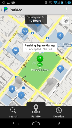Applications pour trouver une place de parking avec ParkMe